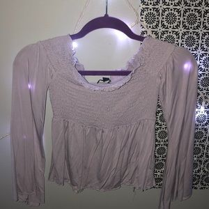 American Eagle Off the shoulder flowy blouse